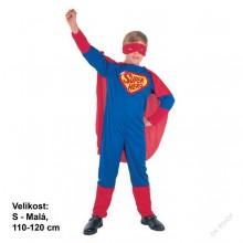 Dětský karnevalový kostým superhrdina SUPER HERO 110 - 120cm ( 4 - 6 let )